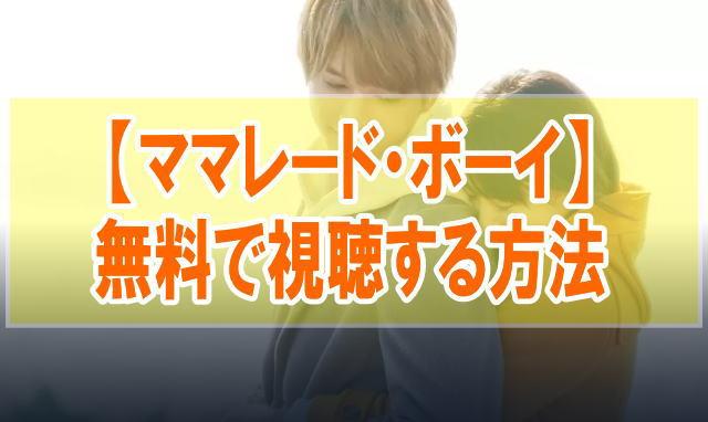 映画『ママレード・ボーイ』を無料でフル動画を見る!視聴者の感想・評価・評判