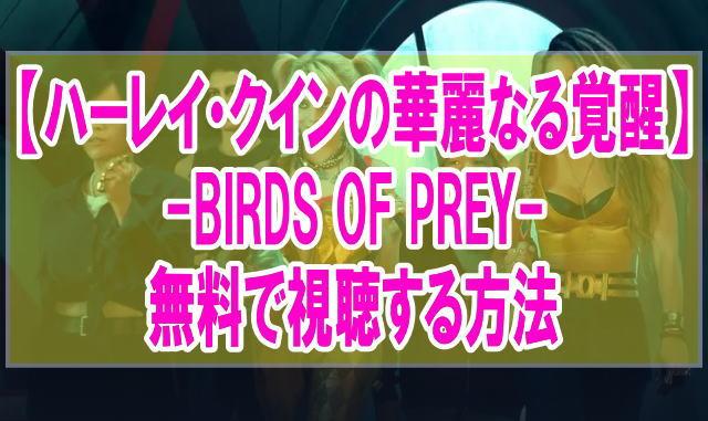 映画『ハーレイ・クインの華麗なる覚醒 BIRDS OF PREY』を無料でフル動画を見る方法