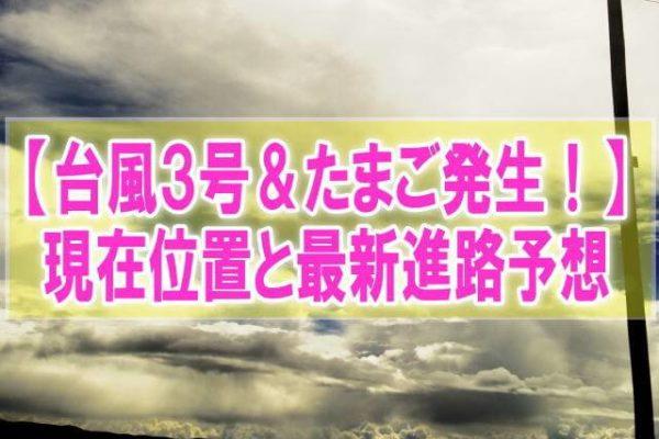 台風3号&たまご2020発生!現在地と最新進路予想から日本・沖縄への影響