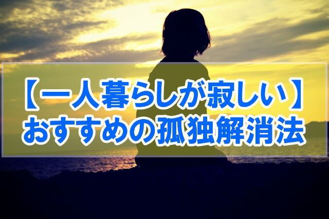 【休日が充実!】一人暮らしが寂しい社会人におすすめの孤独解消法20選